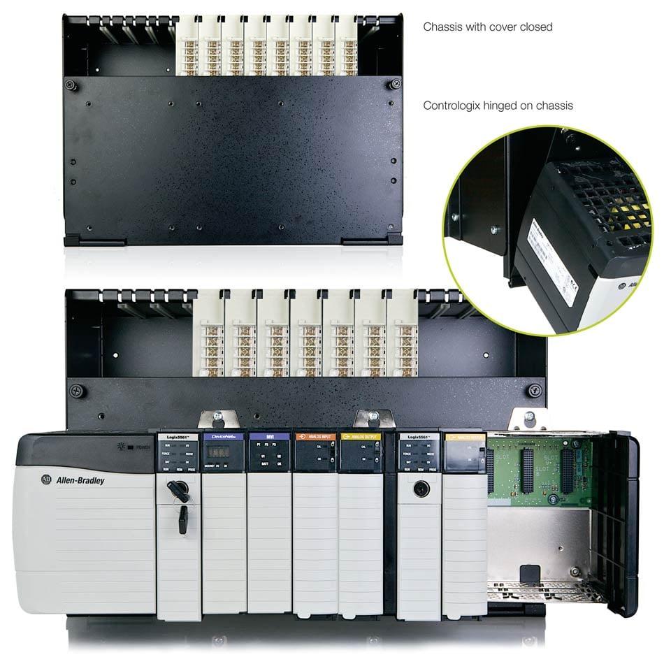 Honeywell IPC-620-to-Controllogix adapter chassis